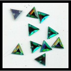 Emerald Green Triangle Flatback