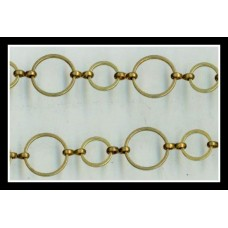 Brass Ring Chain 10X14