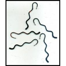 Small Curly Black Nickel Bookmark