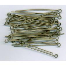 1.5 Inch Eyepins Brass Ox
