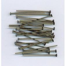 1 Inch Headpins Brass Ox