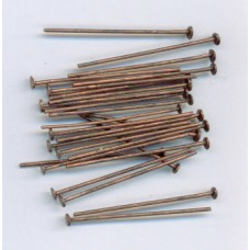 1 Inch Headpins Copper Ox