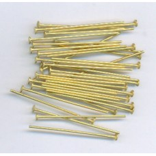 1 Inch Headpins Raw Brass
