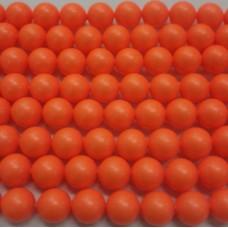 10mm Swarovski Neon Orange Pearl