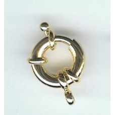 13mm gold plated  brass  bolt ring