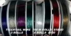 10 Rolls of Mixed Colour Tigertail