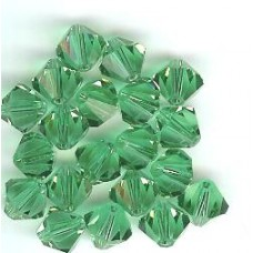 8mm Swarovski Bicone Light Emerald