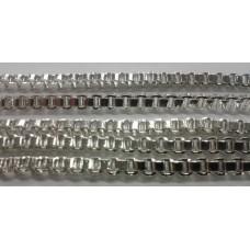 3mm Box Chain Silver