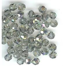 4mm round  black diamond ab