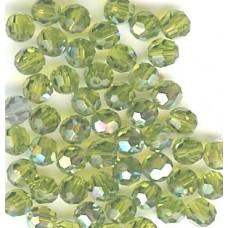 4mm round olivine ab