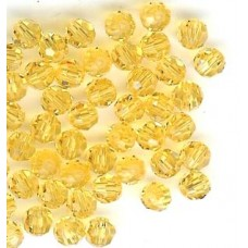 4mm round light topaz