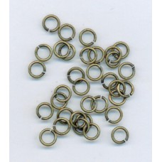 5mm Jumprings Brass Ox