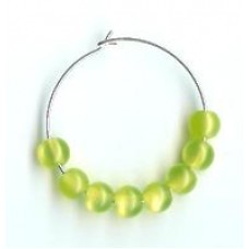 6mm Green Optic Fibre Beads