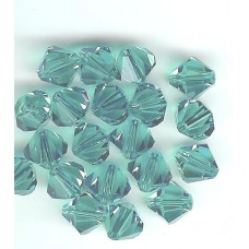 8mm Swarovski Bicone Blue Zircon