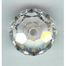 12mm Swarovski Briolette Silver Shade