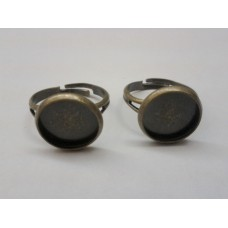 Ring Shank with Round Setting Brass Ox