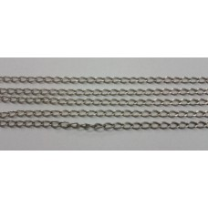 Fine Curb Chain Silver Ox