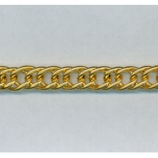 Double-Link Curb Chain Gold from Italy