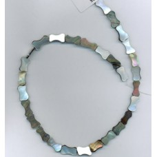 Bone-Shaped Grey Mother of Pearl Beads
