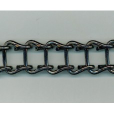 Large Aluminium Based Black Nickle Chain from Italy