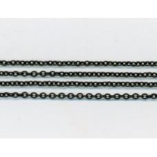 Fine Trace Chain Matte Black