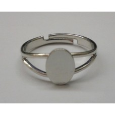 Ring Shank with Oval Flat Pad