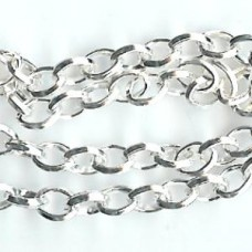 1M  X S8   SILVER PLATED CHAIN