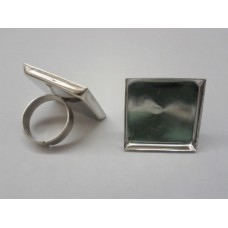 Ring Shank with Square Setting