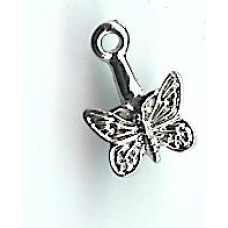 Rhodium Butterfly Bail