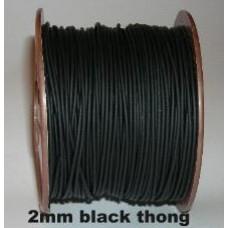 2mm BLACK CORD 100M