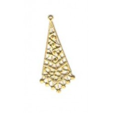 Brass Filigree Triangle Small
