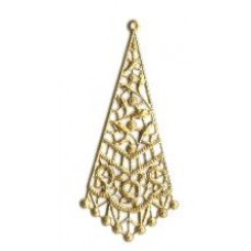 Brass Filigree Triangle Large
