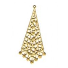 Brass Filigree Triangle Medium