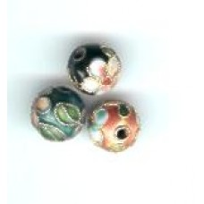 cloisonne 8 mm beads