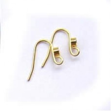 Earwire with Diamonte Setting Gold & Silver