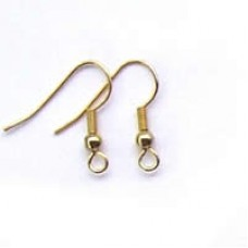 F223 earwire gold with ball and spring
