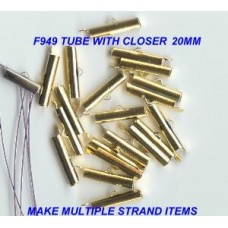 20mm gold tube with closer