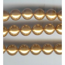 swarovski 10mm pearl bright gold