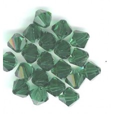 8mm Swarovski Bicone Emerald