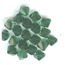 8mm Swarovski Bicone Emerald