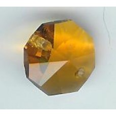 14mm topaz octagonal  2 holes