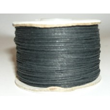 100 m black  waxed cotton .5mm