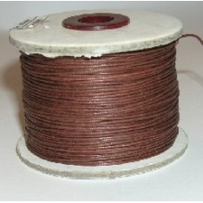 100 m brown  waxed cotton .5mm