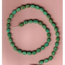 Small Turquoise Flat Ovals
