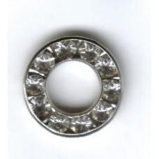 12mm Swarovski Silver Round with Diamontes