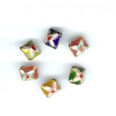 5 Square Cloisonne Beads