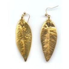 24carat plated mylie leaf earings