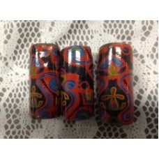 Ceramic Beads Pasley Design Red